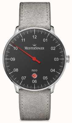 MeisterSinger Mens Form und Stil neo plus automatische schwarz NE402