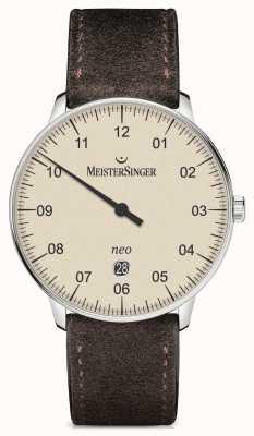 MeisterSinger Mens Form und Stil neo plus automatische Elfenbein NE403