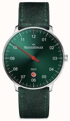 MeisterSinger Mens Form und Stil neo plus automatische Sunburst grün NE409