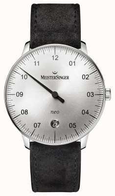 MeisterSinger Mens Form und Stil neo automatische Sonnendurchbruch Silber NE901N