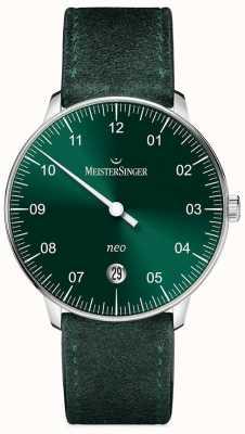 MeisterSinger Mens Form und Stil neo automatische Sunburst grün NE909N