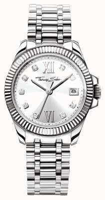 Thomas Sabo Womens göttlichen Edelstahl Armband Silber Zifferblatt WA0252-201-201-33