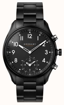 Kronaby 43mm Apex Bluetooth Schwarz PVD Metallband Smartwatch A1000-0731