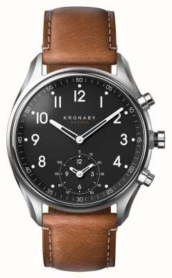 Kronaby 43mm Apex bluetooth Leder Smartwatch A1000-0729
