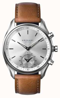 Kronaby 43mm sekel bluetooth braun gegerbtes leder a1000-0713 S0713/1