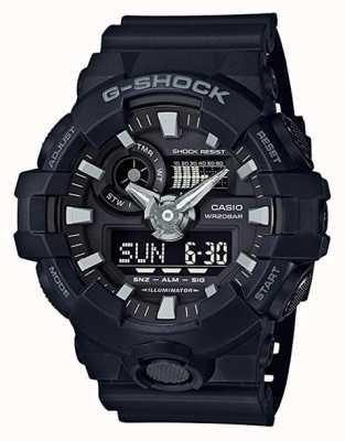 Casio Schwarzer Herren G-Shock Alarm Chronograph GA-700-1BER