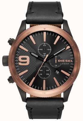 Diesel Herren Raspel Chrono Roségold / schwarze Uhr DZ4445