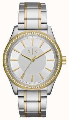 Armani Exchange Damen nicolette zwei Ton Uhr AX5446