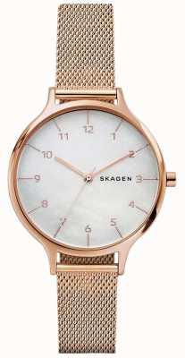 Skagen Womans Anita Roségold Edelstahl Mesh Armband SKW2633