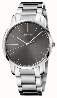 Calvin Klein Herren-Edelstahl-Armband graues Zifferblatt K2G2G1Z3