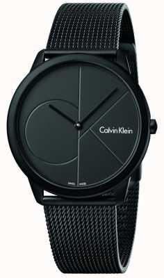 Calvin Klein Mens minimal schwarzes Edelstahl Mesh Armband K3M514B1