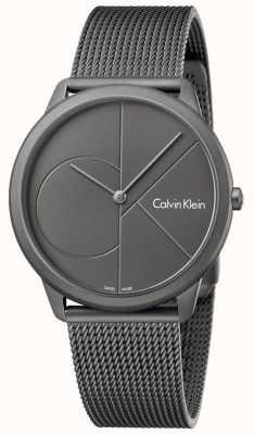 Calvin Klein Mens minimal grau Edelstahl Mesh Armband K3M517P4