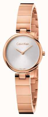 Calvin Klein Womans authentisches pvd überzogenes rosafarbenes Goldarmband K8G23646