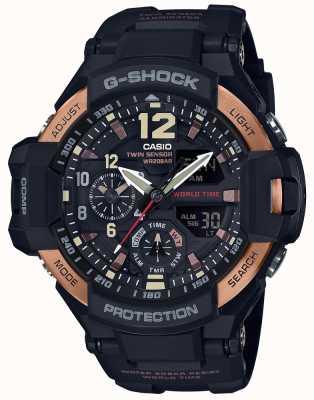 Casio Mens G-Shock Flieger Schwerkraft Master-Uhr ga-1100rg-1adr GA-1100RG-1AER