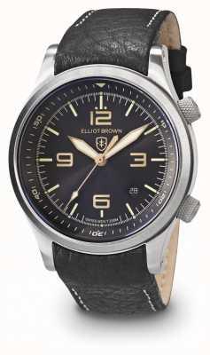 Elliot Brown Mens canford schwarz und gold Edelstahl 202-021-L17
