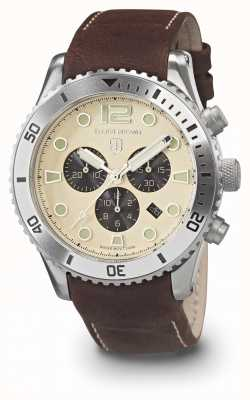 Elliot Brown Mens bloxworth creme und braun geöltes Lederband 929-014-L18