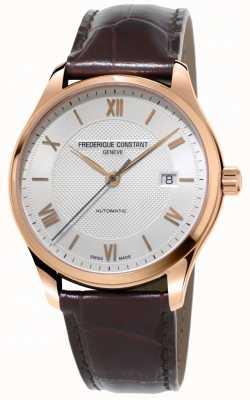 Frederique Constant Mens Klassiker Index automatische braune Lederband FC-303MV5B4