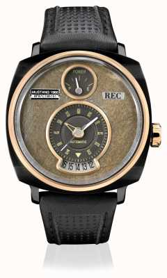 REC P51-03 mustang automatisches schwarzes Lederband