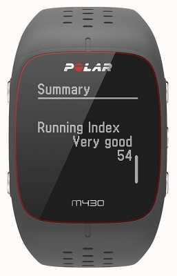 Polar M430 Sportuhr aus grauem Gummi | 90064404