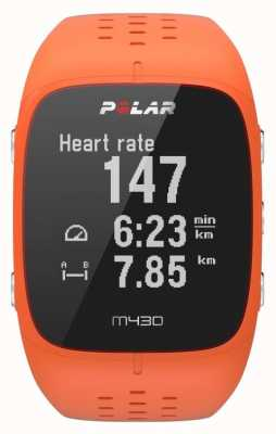 Polar M430 orange Gummi Sportuhr 90064410