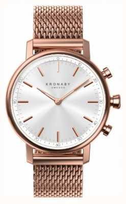 Kronaby 38mm karat bluetooth rose vergoldet mesh a1000-1400 S1400/1