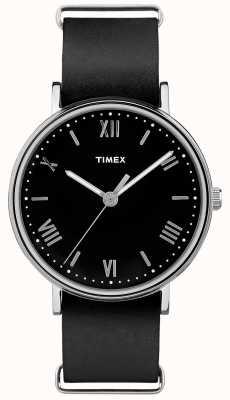 Timex Herren Southview 41mm schwarzes Zifferblatt schwarzes Band TW2R28600