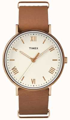 Timex Unisex Southview 41mm Creme Zifferblatt rosa Gold Ton Fall TW2R28800