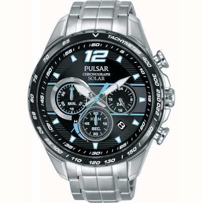 Pulsar Herren Solar-Beschleuniger-Chronograph-Armbanduhr PZ5031X1
