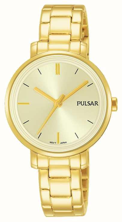 Womans Edelstahl Armband Vergoldet Pulsar Champagner Zifferblatt uXZPkiwOTl