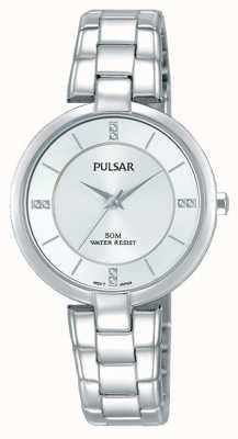 Pulsar Womans Edelstahl Armband Silber Zifferblatt PH8311X1