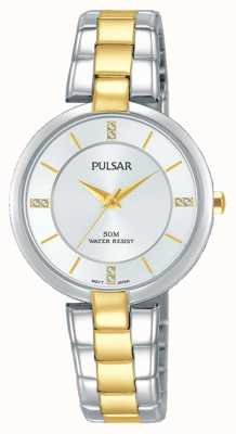 Pulsar Womans Haltung Two Tone Edelstahl Silber Zifferblatt PH8314X1