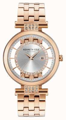 Kenneth Cole Womans Transparenz Zifferblatt Roségold Edelstahlband KC15005004