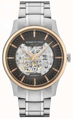 Kenneth Cole Herren Automatik Skelett Zifferblatt Edelstahlarmband KC15110001