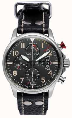 Junkers Mens Junker 3 Eurofighter Chronograph Automatik schwarz 6826-5