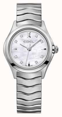 EBEL Wave Damen Diamant Set aus Edelstahl 1216193