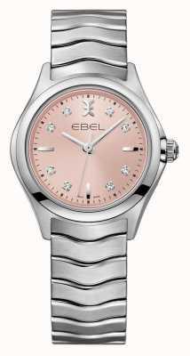 EBEL Wave Damen rosa Zifferblatt Edelstahl Uhr 1216217