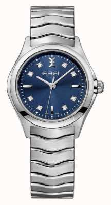 EBEL Wave Frauen blauen Zifferblatt Edelstahl Uhr 1216315
