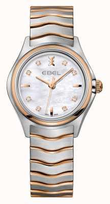 EBEL Wave Damen Diamant zweifarbige Roségolduhr 1216324