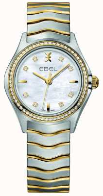 EBEL Wave Damenuhr mit zweifarbigem Diamantenset 1216351