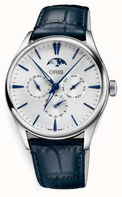 Oris Artelier Datum automatische Komplikation blau Lederband 01 781 7729 4051-07 5 21 66FC