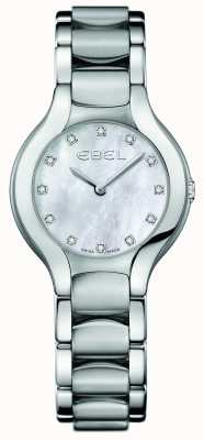 EBEL Damen Beluga Diamant Set aus Edelstahl 1216038
