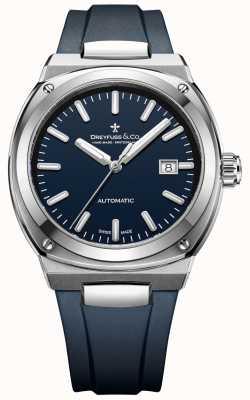 Dreyfuss Herren 1953 Automatik Chronometer dunkelblau DGS00154/05