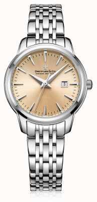 Dreyfuss Womans Champagner Zifferblatt Stahl Armband DLB00125/25