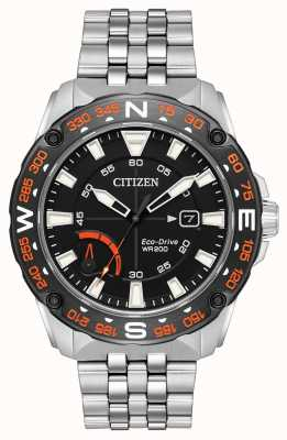 Citizen Mens Öko-Antrieb Edelstahl Armband Gangreserve AW7048-51E