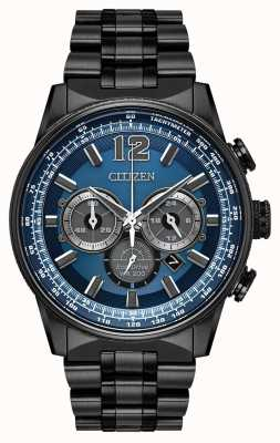 Citizen Eco-Drive Nighthawk Chronograph schwarz ip CA4375-59L