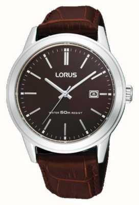 Lorus Braunes Herren Lederarmband 38m RH925BX9