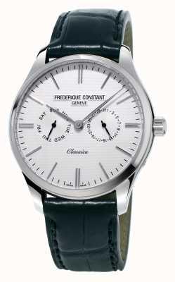 Frederique Constant Mens classics schwarzes Lederarmband / grünes Nato-Armband FC-259ST5B6