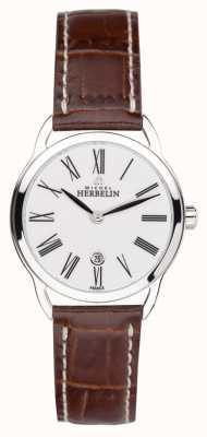 Michel Herbelin Ladies equinox römischen braunen Armband 16977/01GO