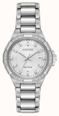 Citizen Riva Eco-Drive Edelstahl-Diamant-Set EW2460-56A