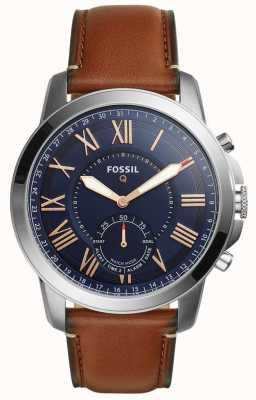 Fossil Q gewährt Hybrid-Smartwatch hellbraunes Leder FTW1122